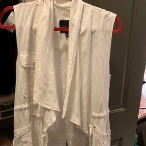 Sanctuary White Linen Vest